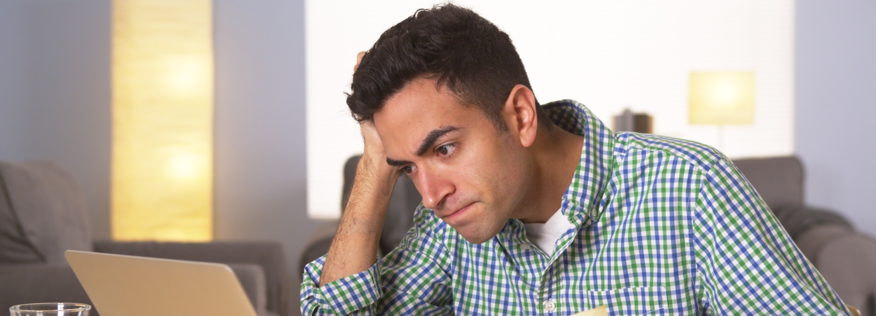 Emotional Impact of Poor Sleep: man frustrated from lack of sleep