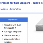 review website for side sleepers