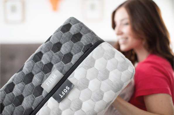 Try Any Mattress of Your Choice RISK-FREE @ Home W/ Free Delivery two-side-mattress-ndjpg Layla ($300 Deal)